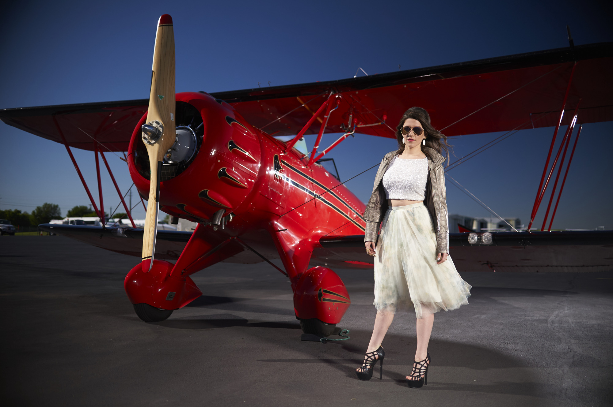 Uptown in a Biplane - Commercial Lifestyle Photoshoot