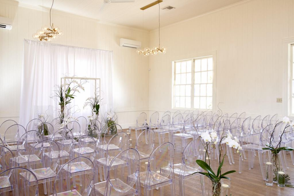 Wedding Ceremony Space at Springdale Station Grand Opening - Styled Architectural Shoot - Staged Event Space Photography