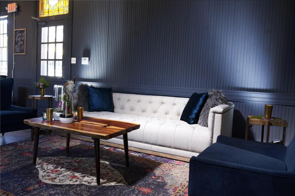 The Cozy Corner at Springdale Station Grand Opening - Styled Architectural Shoot - Staged Event Space Photography