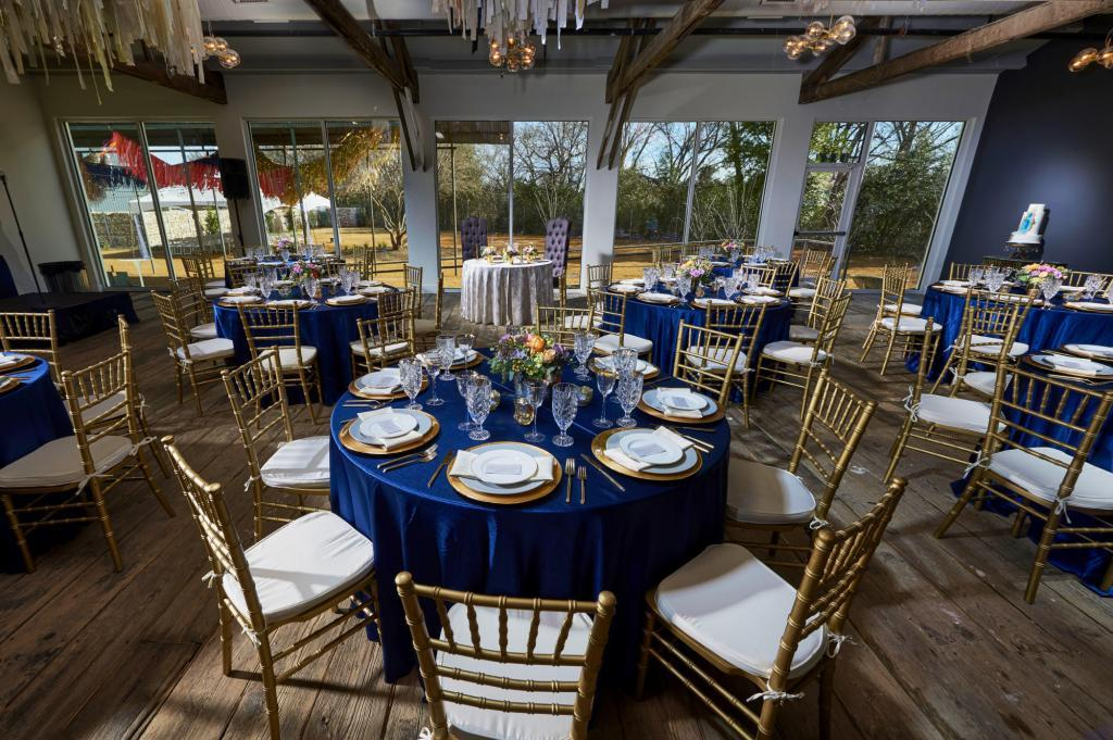Main Ball Room at Springdale Station Grand Opening - Styled Architectural Shoot - Staged Event Space Photography