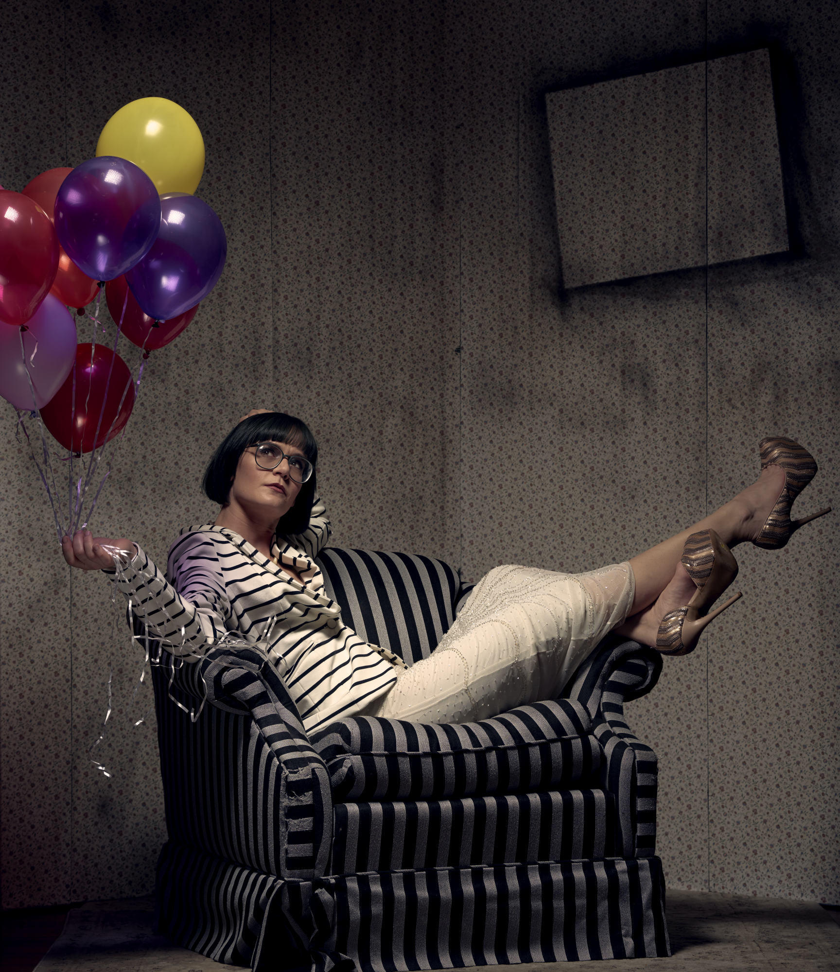 Girl with Baloons - Fashion Photography