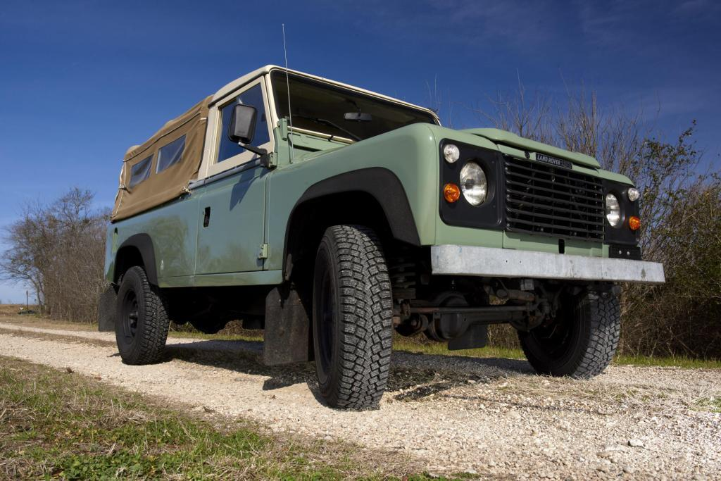 Classic Land Rover Truck - Landrover 110 Truck Low Angle Front Three Quarter - Classic Truck Photography