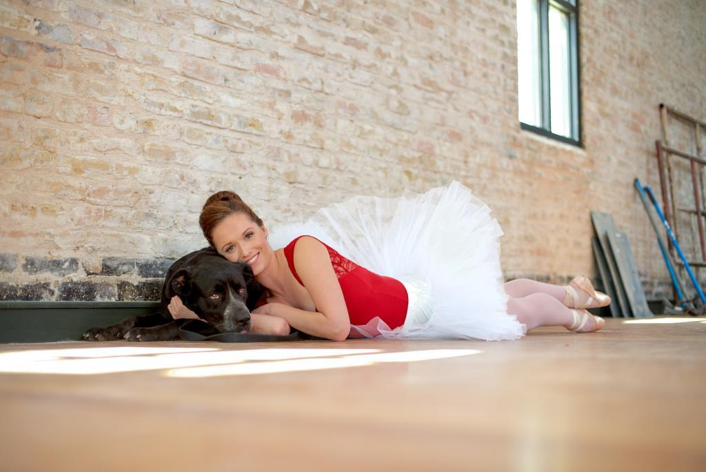 City of Taylor Texas - Dotti the Adoptable Dog - Cuddles with Eryn the Ballerina