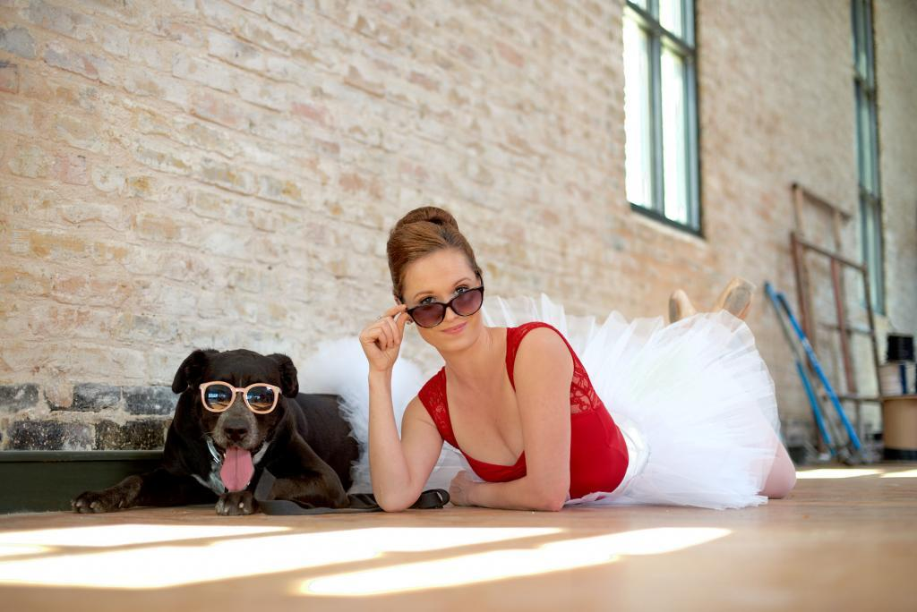 City of Taylor Texas - Dotti the Adoptable Dog - Looking Cool with Eryn the Ballerina