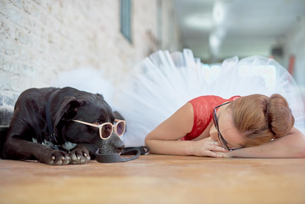 City of Taylor Texas - Dotti the Adoptable Dog - Meaningful stares with Eryn the Ballerina