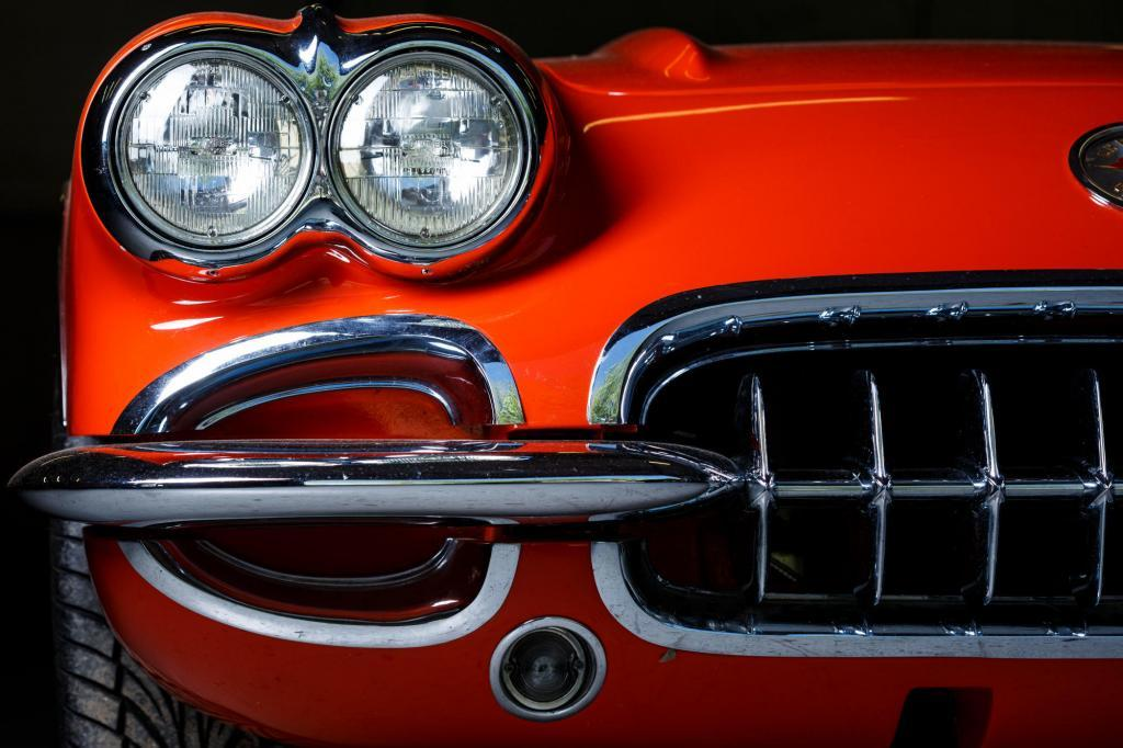 1962 Chevy Corvette C1 Front Light and Grill Detail