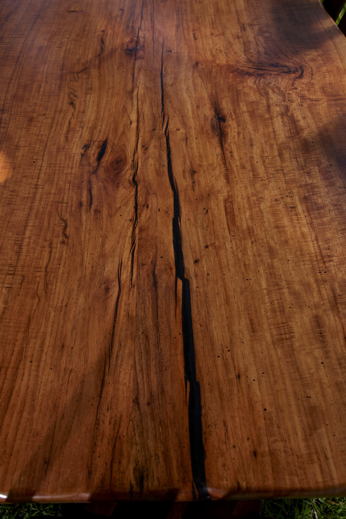 Rustic Furniture Product Photography of One of a kind pecan table top.