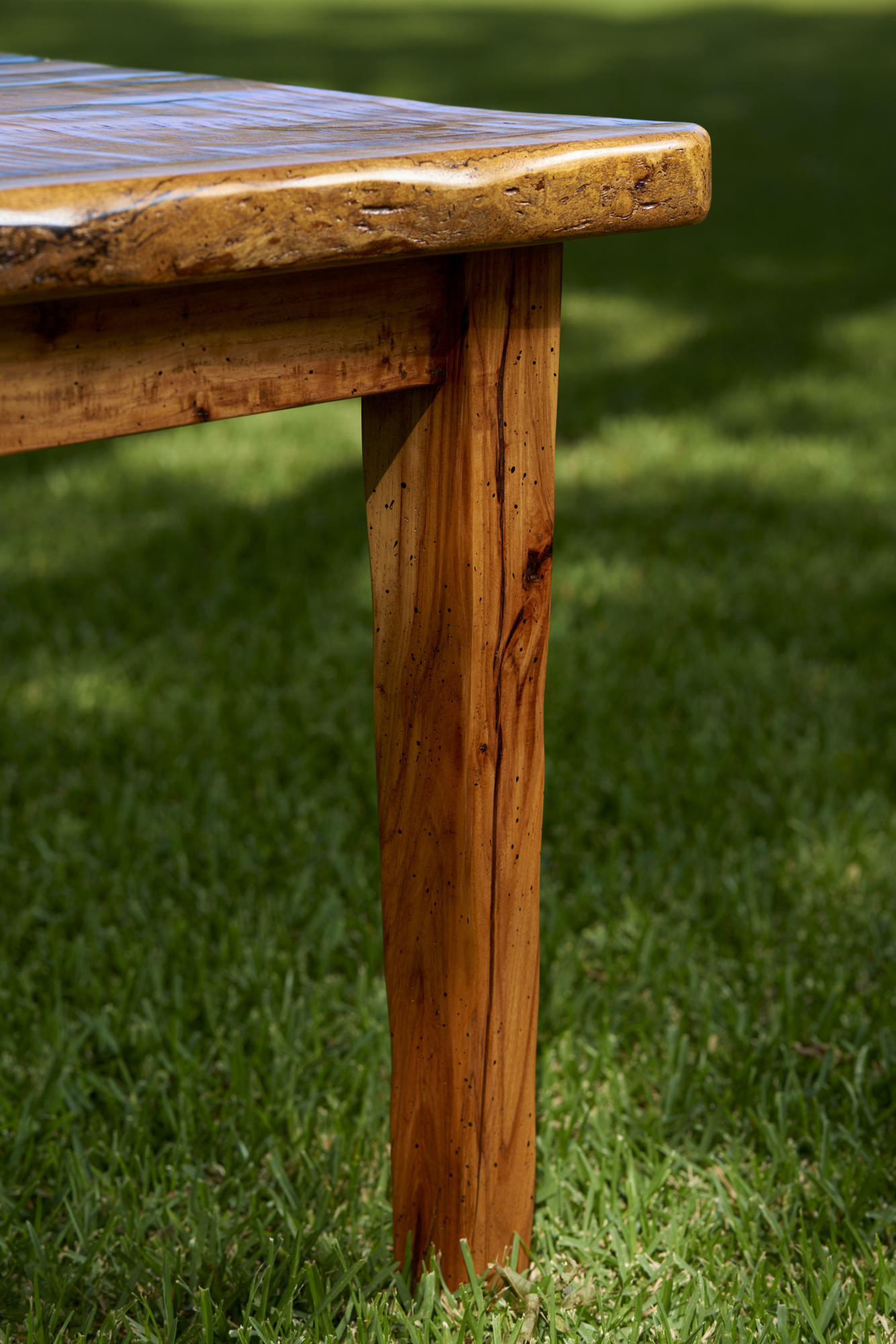 Rustic Furniture Photography of a rustic table leg.