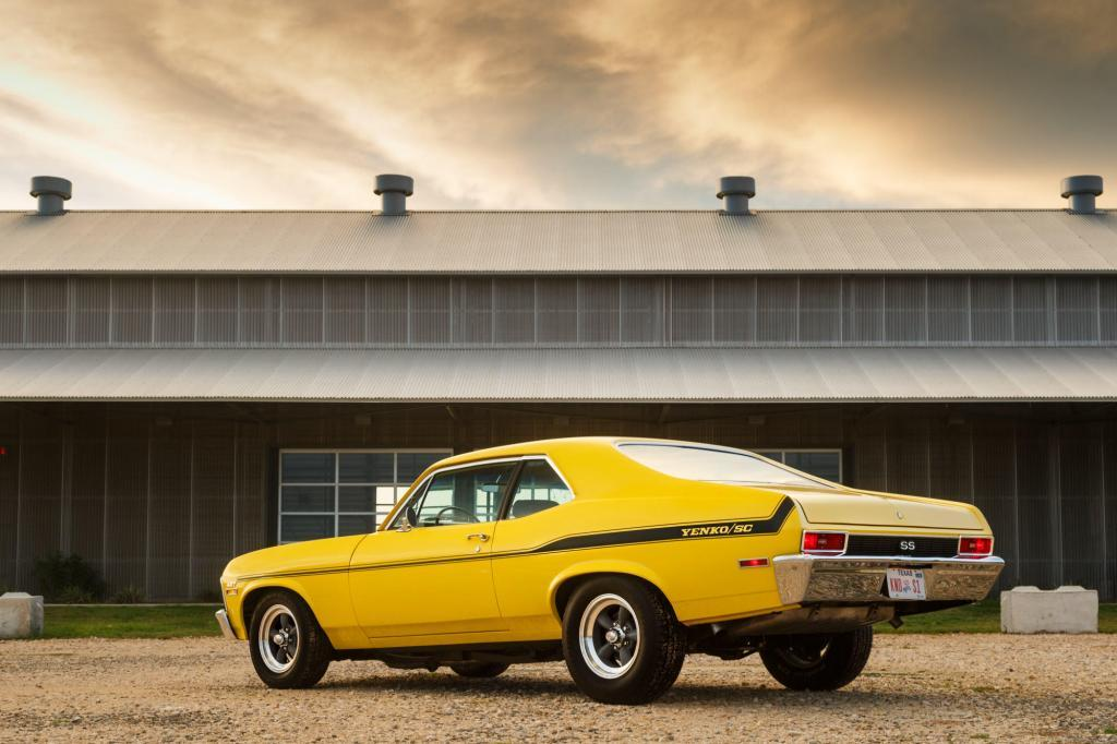 Historic Car, 1970 Yenko Chevy Nova with a 427 Big Block at the old silos in downtown Hutto Tx