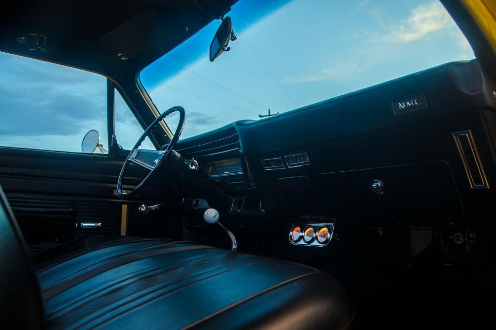 Historic Car, 1970 Yenko Chevy Nova with a 427 Big Block Interior Details including Extra Gauge Cluster