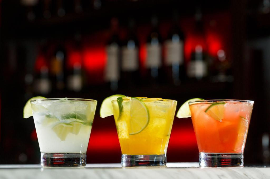 Texas De Brazil Colorful Drinks