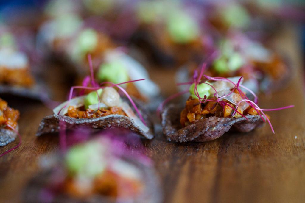 Tasty canapés at the Austin Farm to Table Gala at the Barr Mansion - Commercial Foot Photography
