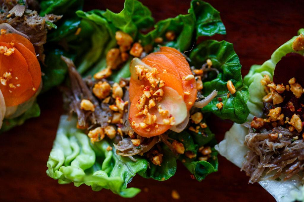 Lettuce Wraps - Austin Farm to Table Gala 2018 - Event Photography - Food Photography