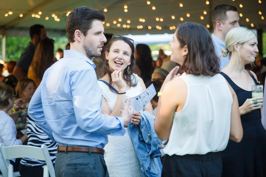 Guests enjoying the spring atmosphere at the Austin Farm to Table Gala 2018