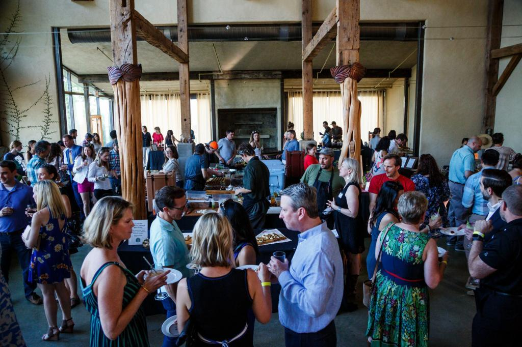 Gala attendees enjoy a great evening sampling dishes made with numerous locally grown ingredients by local chefs.