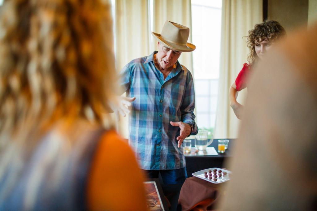 A Food Producer talking passionately about his products. Austin Farm to Table Gala 2018 - Barr Mansion - Event Photography