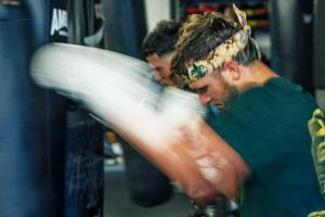 Got That Sports Where - Commercial Apparel Photography - Boxing in Houston - Warming up before sparing.