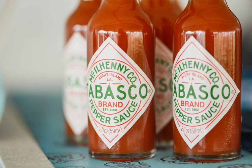 Tabasco Sauce for the oysters.