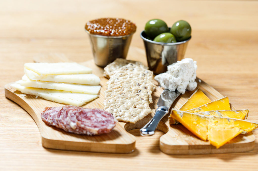 West Pecan Coffee + Beer Antonelli's Meat and Cheese Plate - Commercial Food Photography - Photos for an online menu.